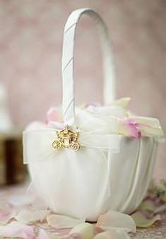 Fairy Tale Cinderella Coach Flowergirl Basket