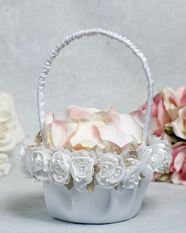 Roses Flower Girl Basket