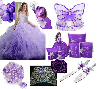 Butterfly Quinceanera Dress Package available in all colors available in all colors up to 12 Items