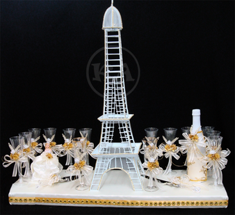 Paris Quinceanera Toasting Set, available in all colors
