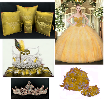 Masquerade Quinceanera Package , available in all colors up to 12 Items