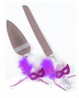 Masquerade decorated Cake Server Set