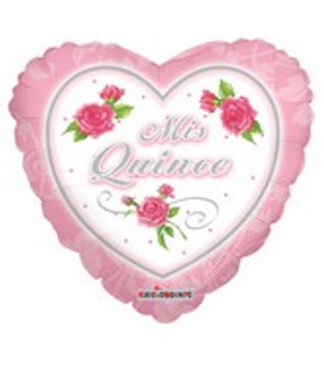 Heart Mis Quince Balloons