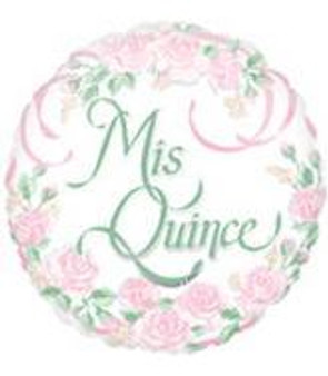 "18"" Mis Quince Rose Balloons"