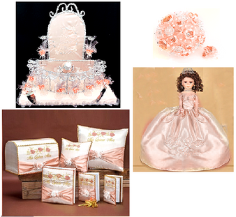 Blush Roses Quinceanera Package, available in every color
