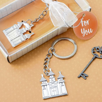 Silver Castle Keychain (as low as $ 1.15)