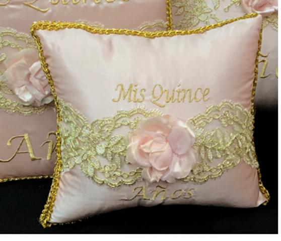 Pink Quinceanera  Pillows Set. Two Pillows