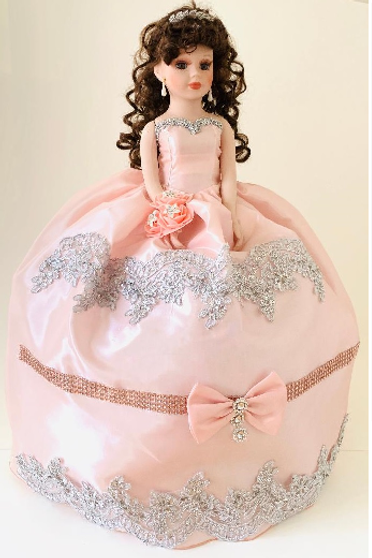 Pink Quinceanera Doll AK-347D