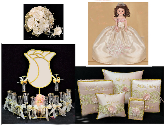 Blush Quinceanera Package available in every color