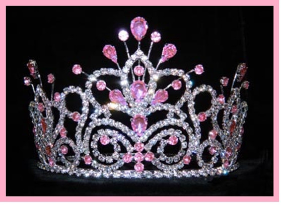 "4"" Pink Quinceanera Crown QT-16107P"