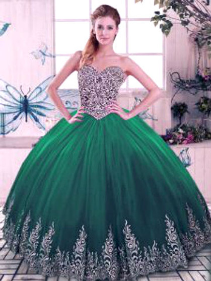 Green Quinceanera Dress QSJQDDT2078002-7