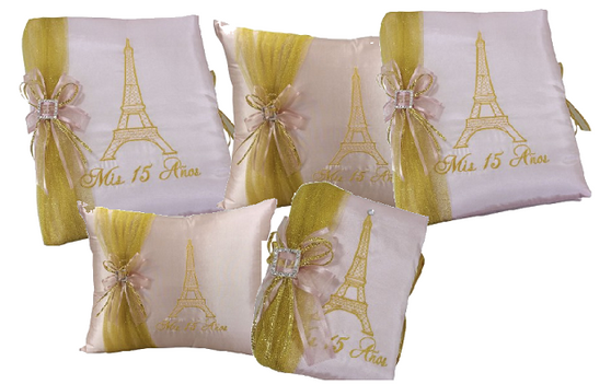 Paris Quinceanera Set, up to 7 items, available in any colors