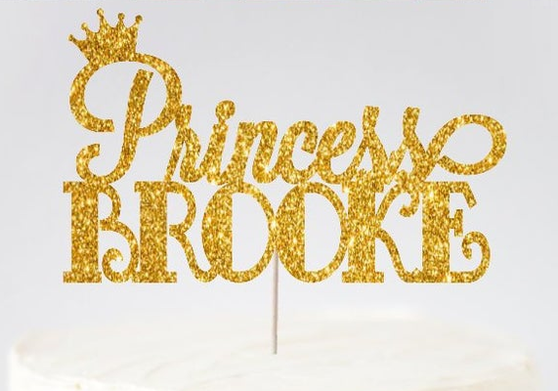 Princess Quinceanera Cake Topper, available in many colors