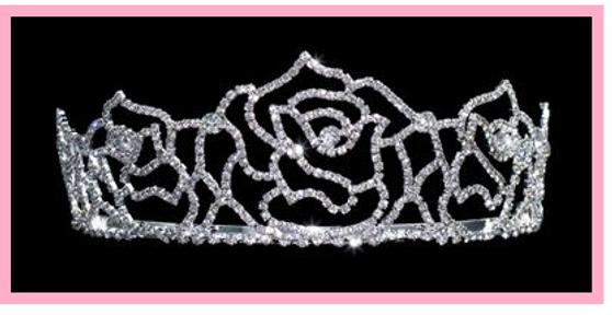 """2 1/8"""" Roses Quinceanera Tiara QT-15454"""