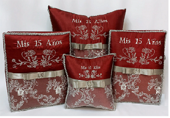 Burgundy Quinceanera Set of 6 available in all colors