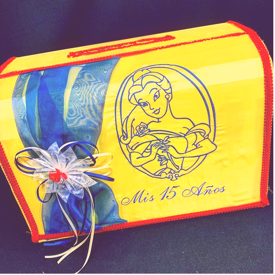 Beauty and the Beast Quinceanera Money Box, available in any colors