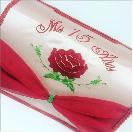 Rose Quinceanera Money Box, available in any colors