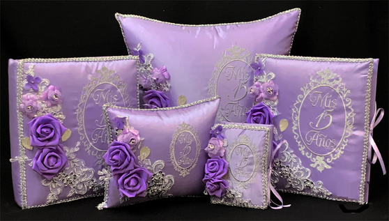 Lilac Quinceanera Set , up to 7 items available in all colors