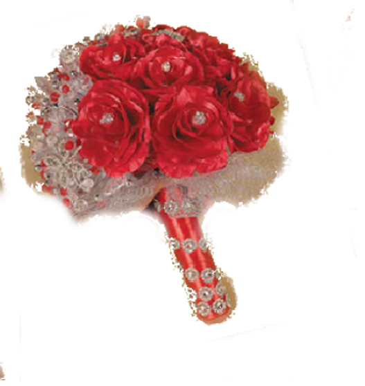 Red Roses Quinceanera Flowers Bouquet