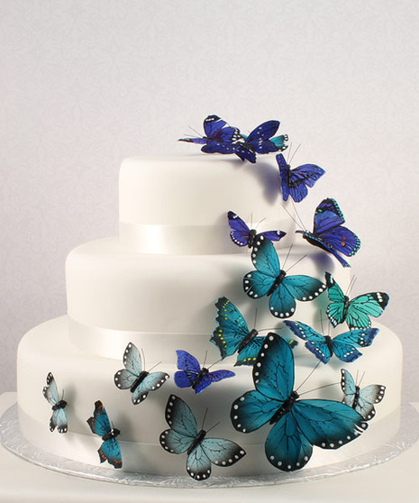 Beautiful Butterflies Quinceanera Cake Decorations