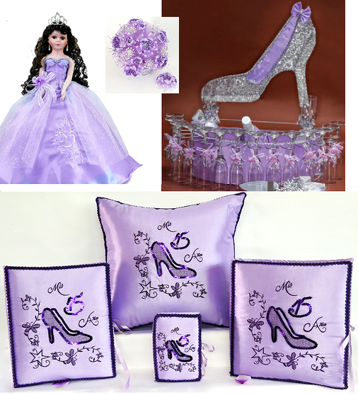Princess Slipper Quinceanera Package available in every color