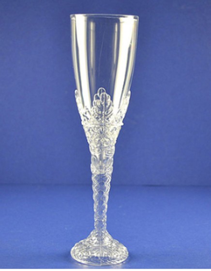 """8"""" Clear Plastic Champagne Flutes, Set of 120"""