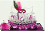 Quinceanera Masquerade Toasting Glasses Set, available in many colors