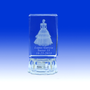 "2.5"" Lighted Crystal  Prism Quinceanera Design Favor, personalized"