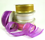 """1.5"""" Organza Satin Edge with Gold/Silver Trim  - Pack of 5 Rolls"""