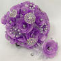 Lilac Quinceanera Flower Bouquet and Headpiece
