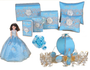 Blue Princess  Carriage Quinceanera Package, available in every color