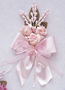 """6"""" Light Pink Silk Clay Corsage Flowers - Pack of 6"""