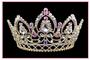 """4.75 """" Gold Quinceanera Tiara QT-16779abg"""