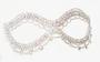 Silver Rhinestone  Mask - 7.5 inches
