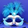 Mardi Gras Glitter Feather Masquerade Masks
