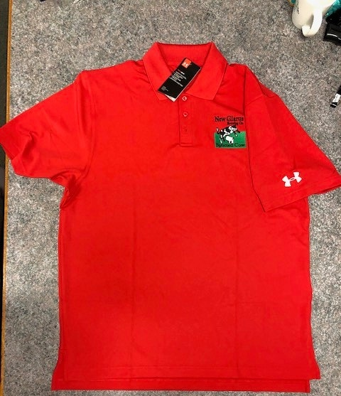 Under Armour Red Polo Embroidered