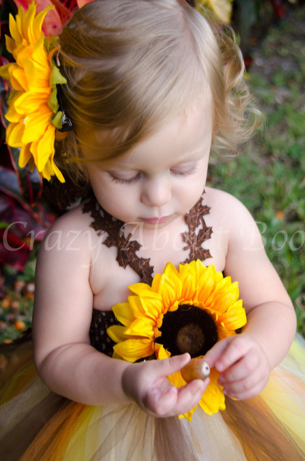 6336a5ff88c ... Lil  Pumpkin in our Thanksgiving Fall Sunflower Tutu Dress for a Newborn