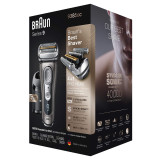 Electric Shaver, Series 9, Graphite with Clean and Charge station and leather travel case, 9385cc