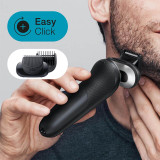 Electric Shaver, Series 7, Black with SmartCare center and beard trimmer attachment, 7075cc