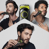 Beard Trimmer 3 for Face and Hair, Black/Volt Green with precision dial, BT3221