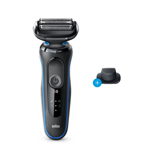 Electric Shaver, Series 5, Blue with precision trimmer attachment, 5018s