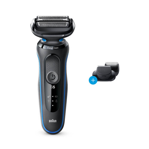 Electric Shaver, Series 5, Blue with beard trimmer attachment, 5020s