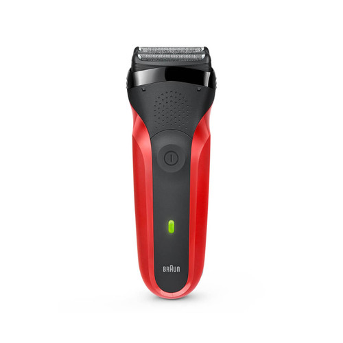 Electric Shaver, Series 3, Red with protection cap, 300s
