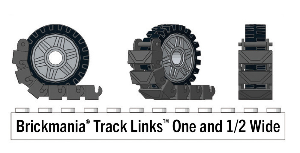 Brickmania® Track Links™ V2 - Chevron One and a Half Wide - Brown - x150