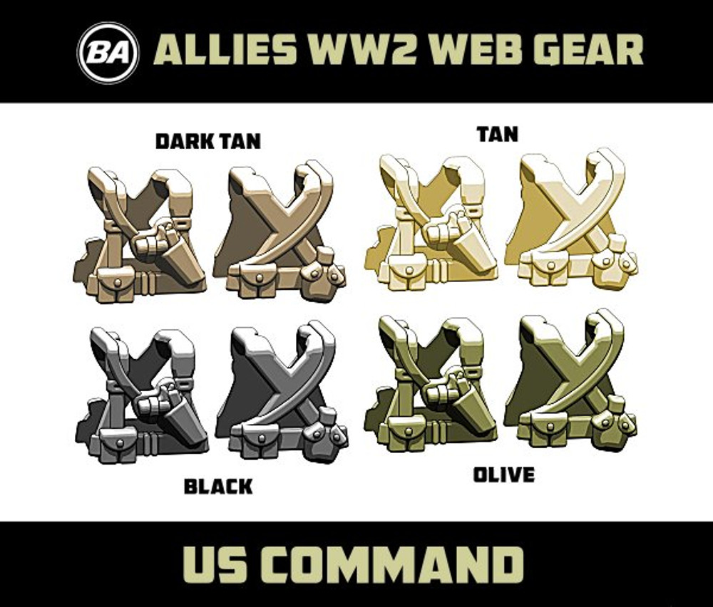 BrickArms US Command - WWII Web Gear