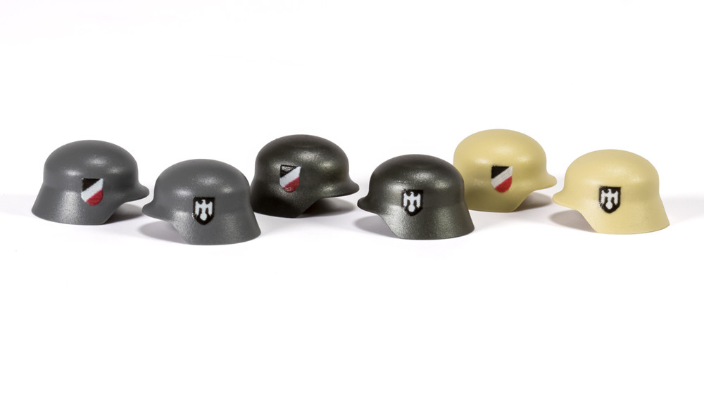 BrickArms Stahlhelm w/ Two Sided 3 Color Wehrmacht Print