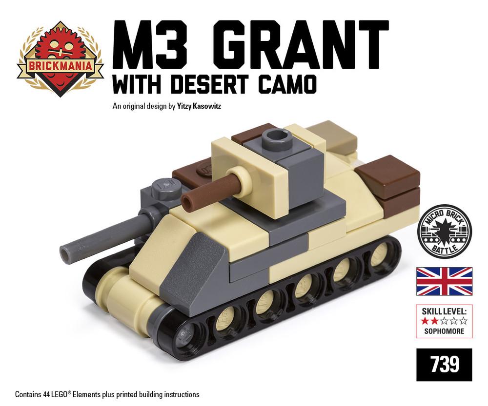 Micro Brick Battle - M3 Grant