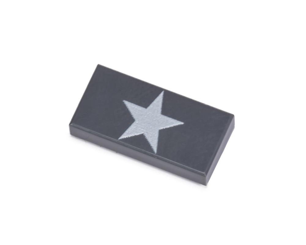 1x2 Allied Star Tile - Dark Gray