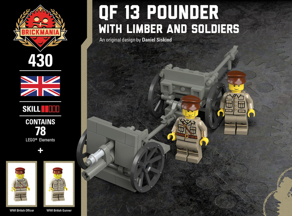 QF 13 Pounder - With Limber and Soldiers