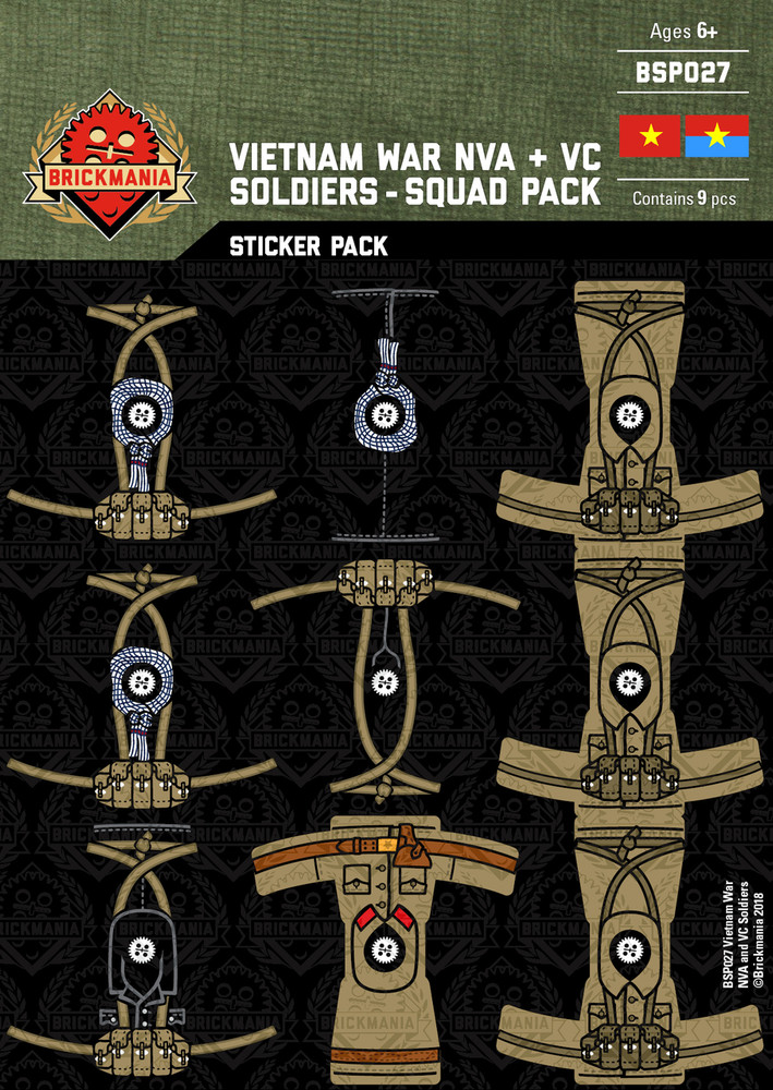 Vietnam War NVA and VC Soldiers - Squad Pack - Stickers